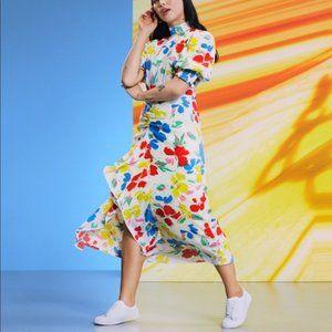 RIXO x Target High Neck Puff Sleeve Floral Dress